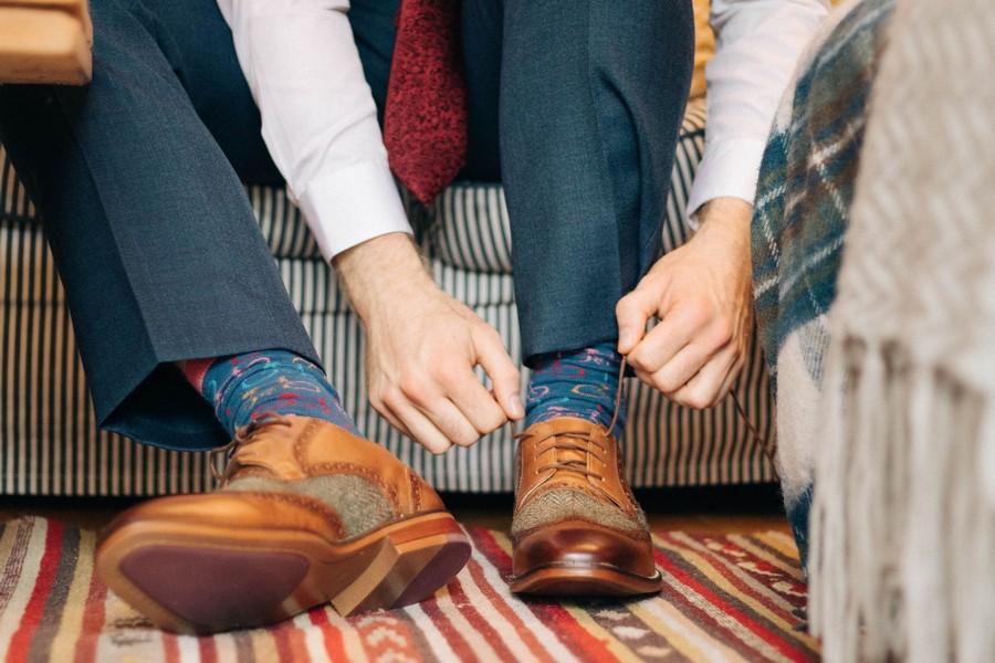 chaussettes témoin de mariage