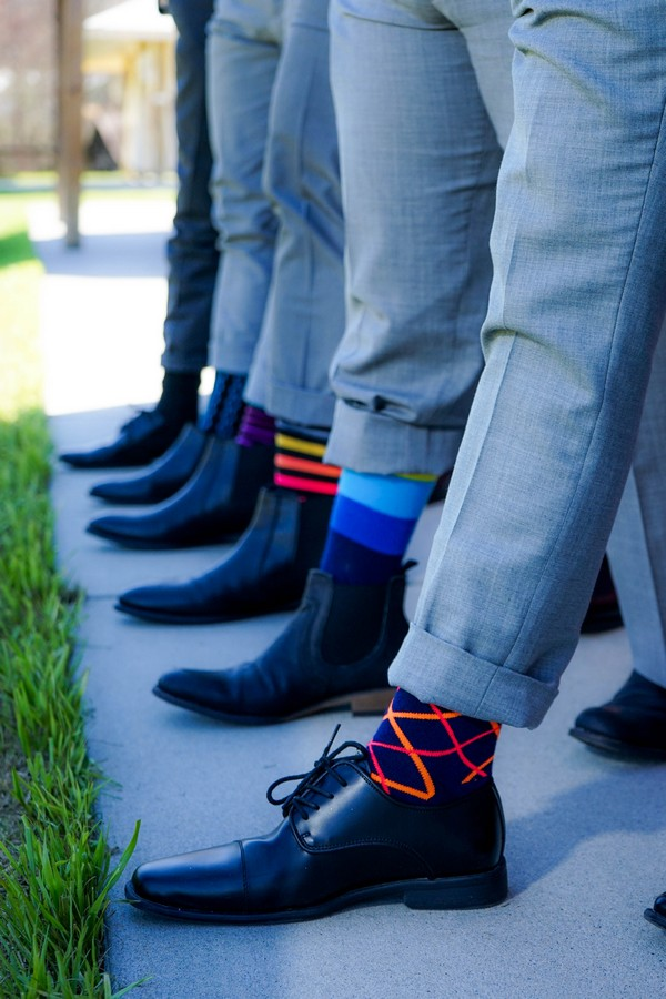 chaussettes de témoins de mariage