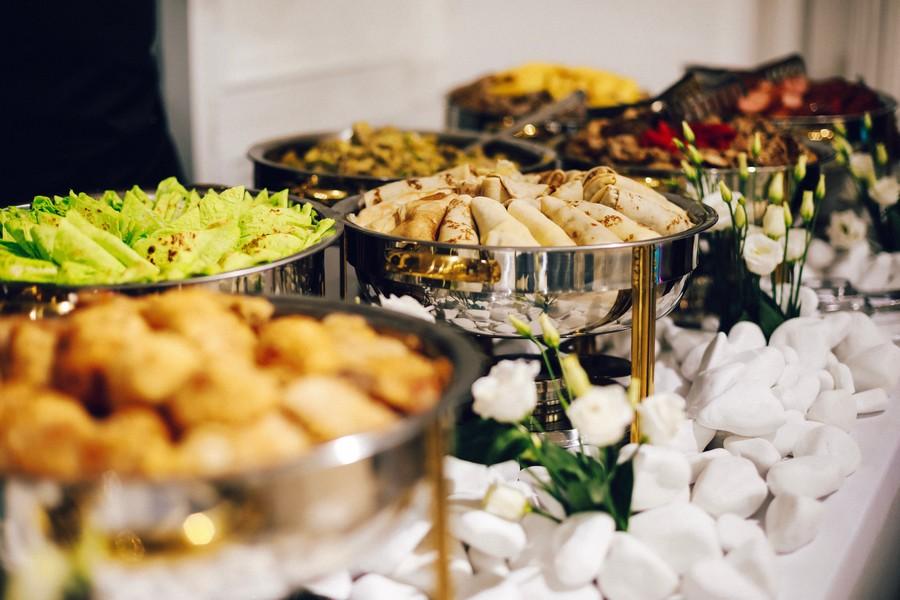 buffet à un mariage