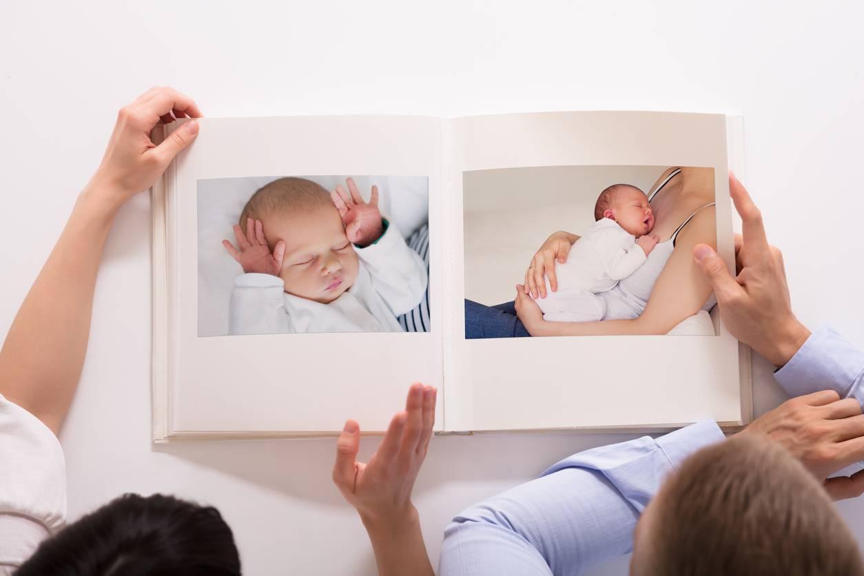 Album photo de naissance d'un bébé